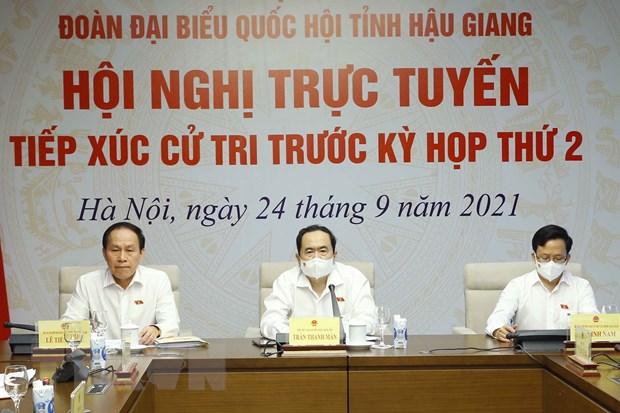 Ong Tran Thanh Man tiep xuc cu tri Hau Giang theo hinh thuc truc tuyen hinh anh 1