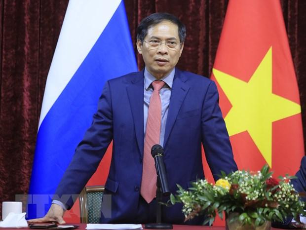 Bo truong Ngoai giao gap go cong dong nguoi Viet Nam tai Nga hinh anh 1