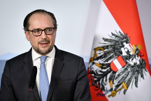 Ngoại trưởng Áo Alexander Schallenberg. Ảnh: AFP