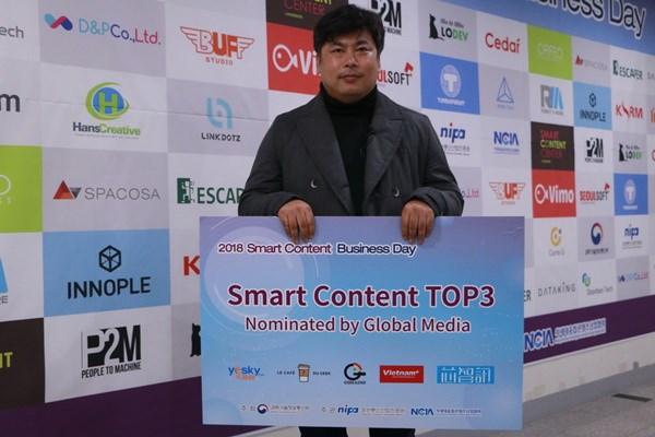 Trao giai 'Ngay hoi Kinh doanh noi dung thong tin 2018' tai Han Quoc hinh anh 4