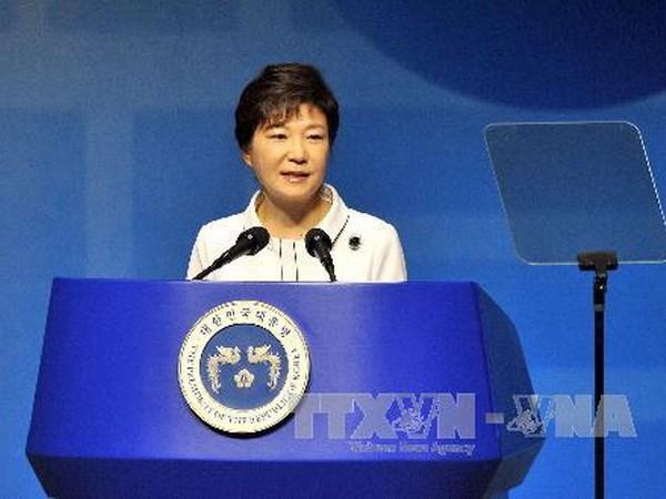 Ba Park Geun-hye tuyen bo san sang gap ong Kim Jong-un hinh anh 1
