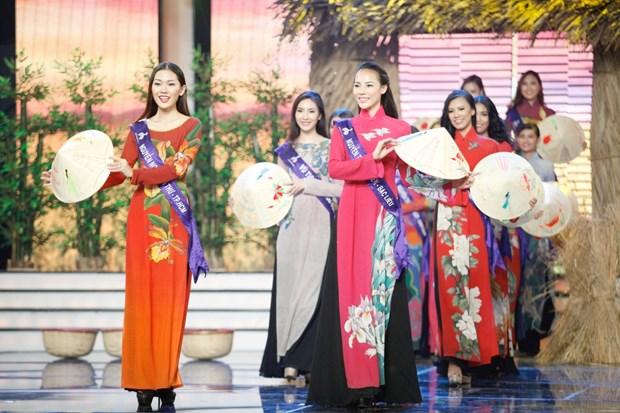 Liveshow 5 Hoa khoi Ao dai Viet Nam: Que Chi ngam ngui dung buoc hinh anh 4