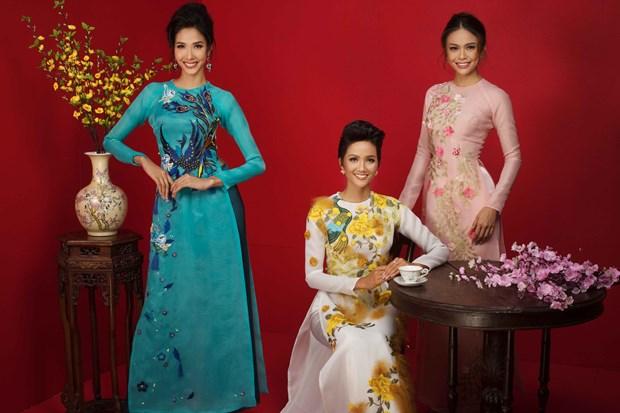 Top 3 Hoa hau Hoan vu Viet Nam 2017 'do ruc' mung Xuan moi hinh anh 6