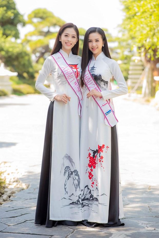 Top 3 Hoa hau Viet Nam thuot tha ao dai trong Le hoi Mat Troi moc hinh anh 9