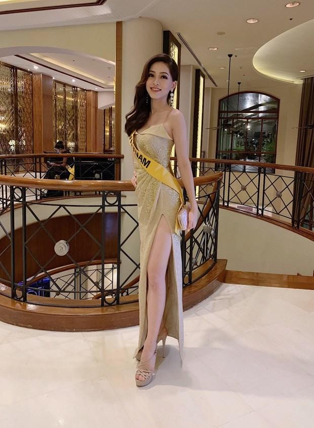 A hau Phuong Nga va no luc noi bat tai Miss Grand International 2018 hinh anh 3