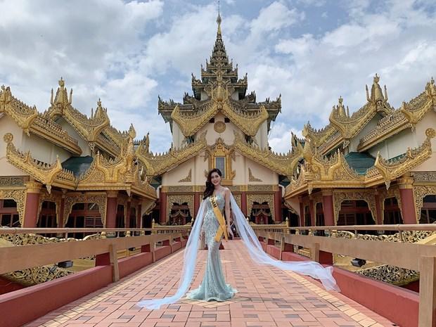 A hau Phuong Nga va no luc noi bat tai Miss Grand International 2018 hinh anh 2