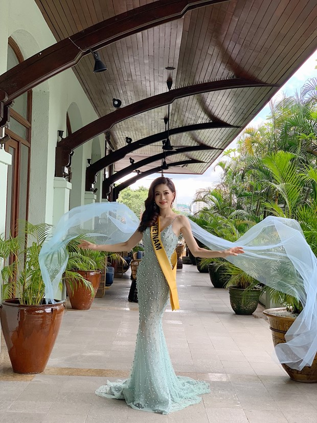 A hau Phuong Nga va no luc noi bat tai Miss Grand International 2018 hinh anh 5