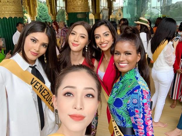 A hau Phuong Nga va no luc noi bat tai Miss Grand International 2018 hinh anh 11