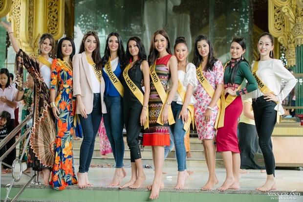 A hau Phuong Nga va no luc noi bat tai Miss Grand International 2018 hinh anh 16