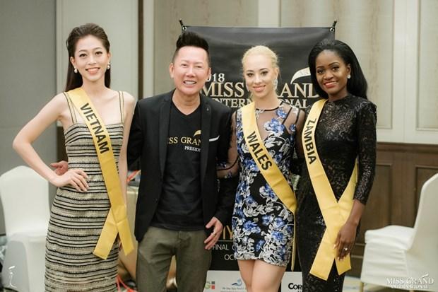 A hau Phuong Nga va no luc noi bat tai Miss Grand International 2018 hinh anh 17