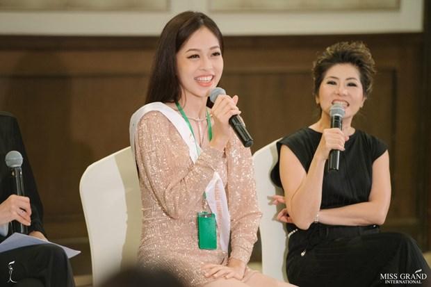 A hau Phuong Nga va no luc noi bat tai Miss Grand International 2018 hinh anh 18