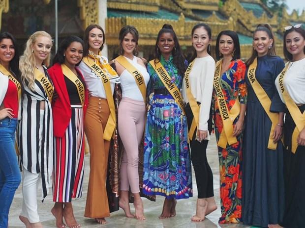 A hau Phuong Nga va no luc noi bat tai Miss Grand International 2018 hinh anh 23