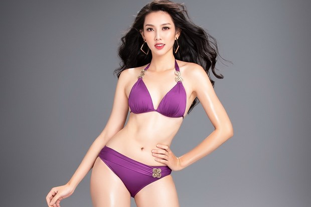 Thuy Tien nong bong voi bikini truoc ngay thi Miss International 2018 hinh anh 1