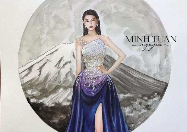 Miss International: Chuyen dac biet sau thiet ke da hoi cua Thuy Tien hinh anh 1