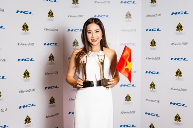 'Le hoi bien Sam Son 2018' doat cup Vang giai Stevie® Award tai My hinh anh 2