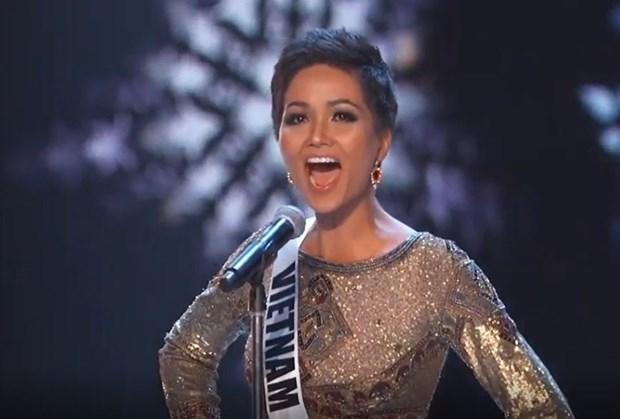 Miss Universe 2018: H'Hen Nie xuat sac lot top 5 chung cuoc hinh anh 2