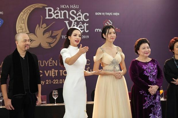 Ban gai sao U23 Trong Dai rang ro du so tuyen Hoa hau Ban sac Viet hinh anh 1