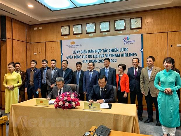 Tong cuc Du Lich 'bat tay' Vietnam Airlines quang ba, xuc tien du lich hinh anh 2