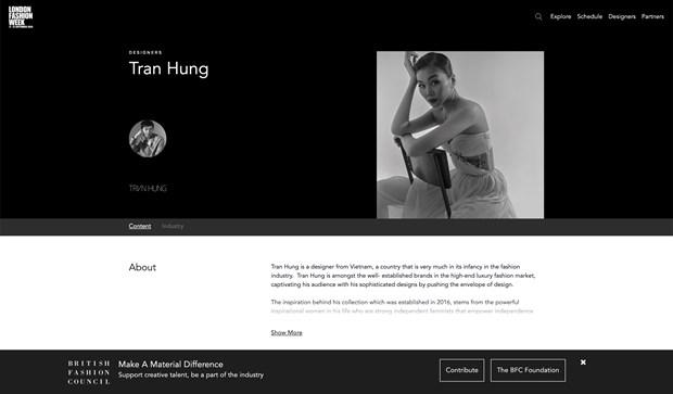 Nha thiet ke Viet ra mat bo suu tap rieng tai London Fashion Week 2021 hinh anh 1