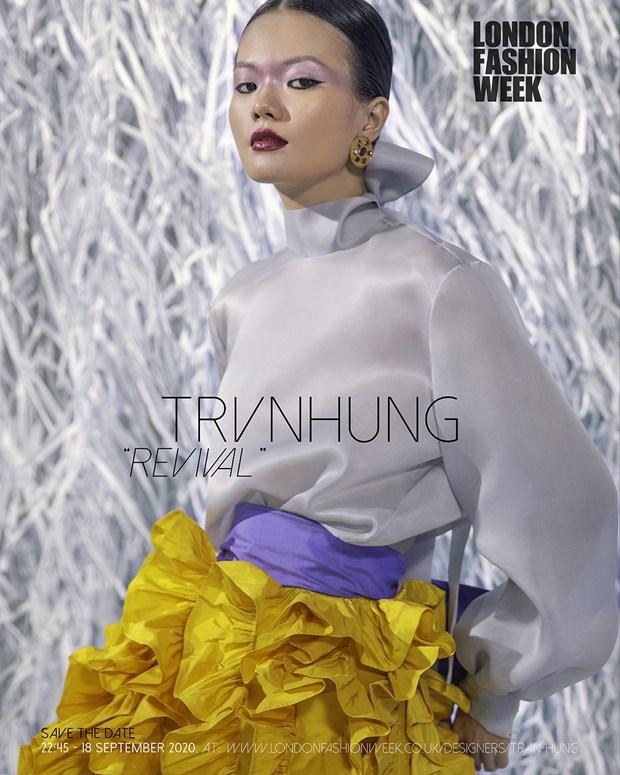 He lo bo suu tap cua nha thiet ke Viet tai London Fashion Week 2020 hinh anh 1