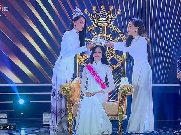 Nhan sac den tu Thanh Hoa dang quang Hoa hau Viet Nam nam 2020 hinh anh 2