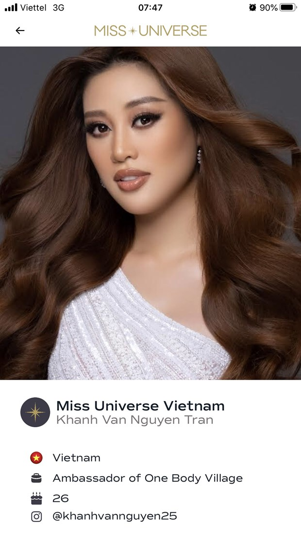 Hoa hau Khanh Van xuat hien an tuong tren trang chu Miss Universe hinh anh 1
