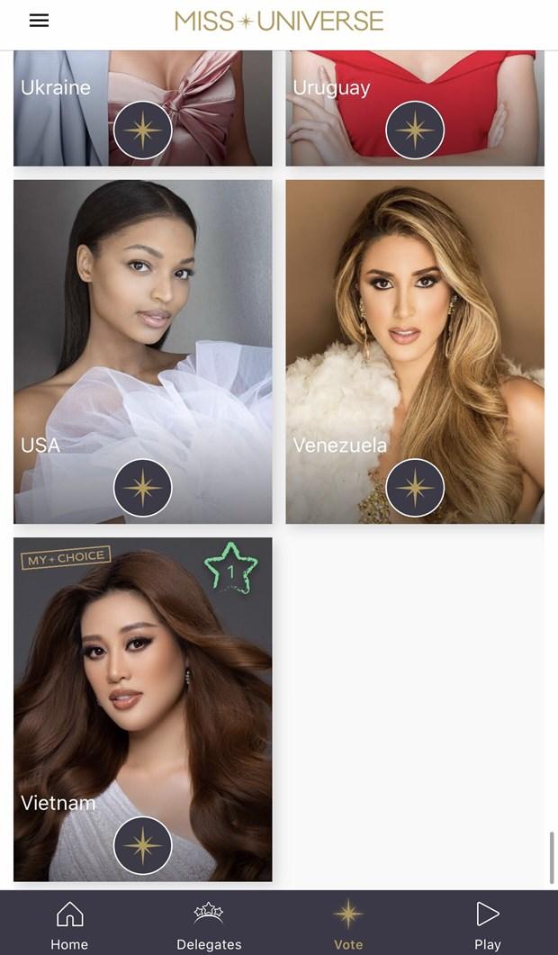 Hoa hau Khanh Van xuat hien an tuong tren trang chu Miss Universe hinh anh 2