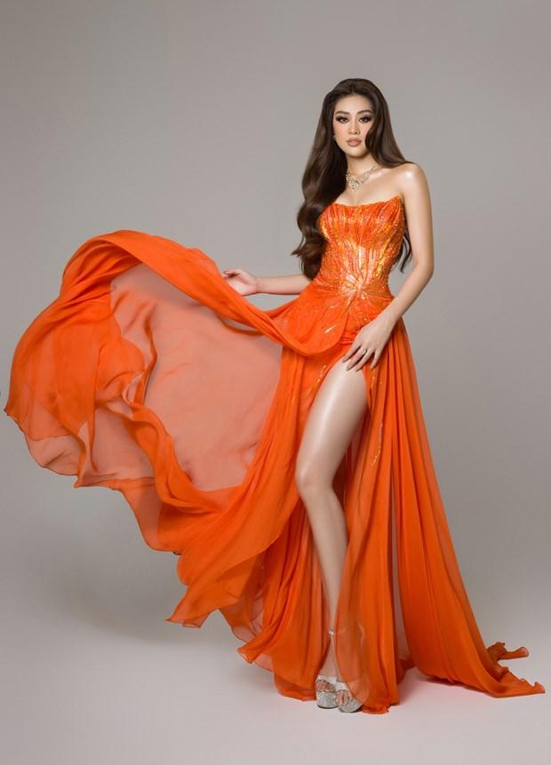 Ban ket Miss Universe: Trang phuc da hoi an tuong cua Khanh Van hinh anh 1