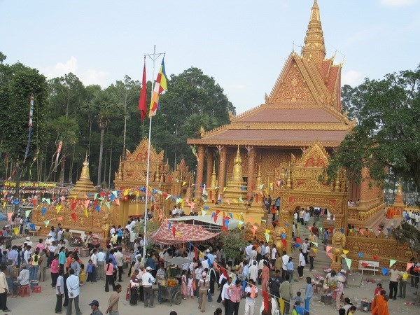 Dong bao Khmer o Tra Vinh don Tet Chol Chnam Thmay hinh anh 1