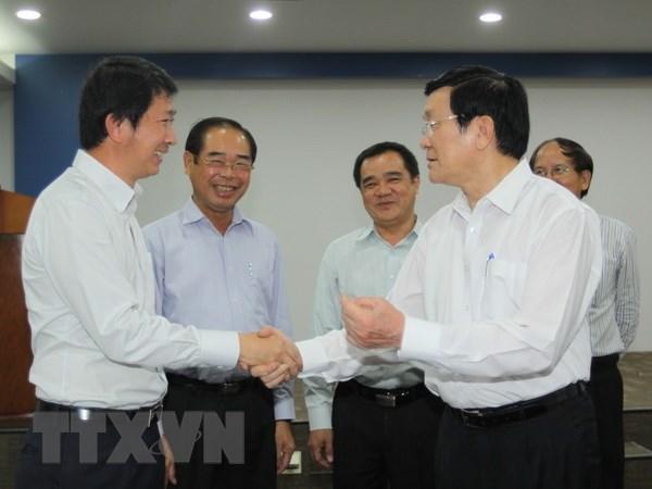 Chu tich nuoc tham doanh nghiep FDI tai tinh Binh Duong hinh anh 1