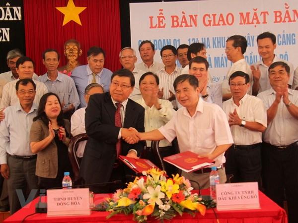 Phu Yen ban giao dat cho chu dau tu du an Vung Ro hinh anh 1
