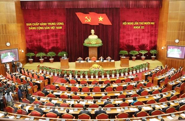 Ngay lam viec thu hai Hoi nghi Ban Chap hanh Trung uong Dang hinh anh 1
