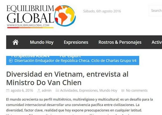 Argentina ca ngoi chinh sach cua Viet Nam voi cong dong thieu so hinh anh 1
