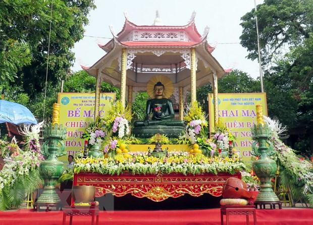 Dai le chiem bai Phat ngoc hoa binh the gioi tai Thai Nguyen hinh anh 1