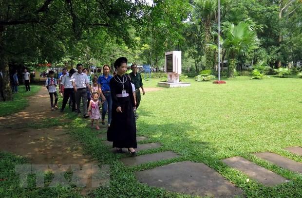 Khu di tich lich su Tan Trao don 51.000 luot khach trong thang Tam hinh anh 1