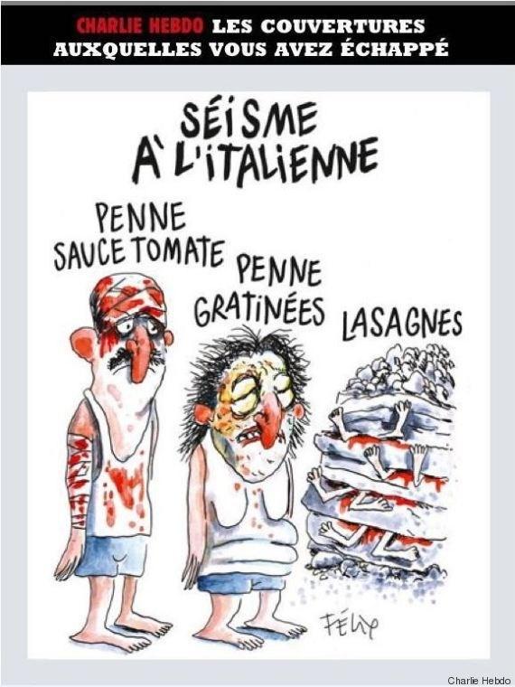 Italy phan no vi biem hoa ve dong dat cua tap chi Charlie Hebdo hinh anh 2