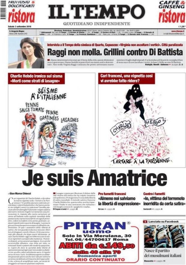 Bao Italy tra dua Charlie Hebdo vi tranh biem hoa nan nhan dong dat hinh anh 2