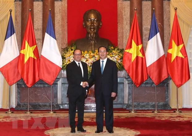 [Photo] Chu tich nuoc Tran Dai Quang don Tong thong Phap Hollande hinh anh 9