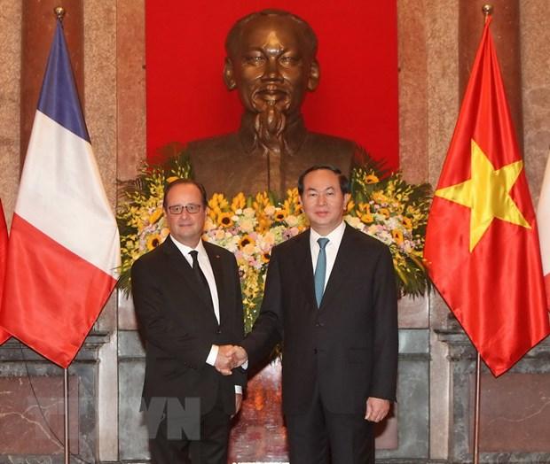 [Photo] Chu tich nuoc Tran Dai Quang don Tong thong Phap Hollande hinh anh 10