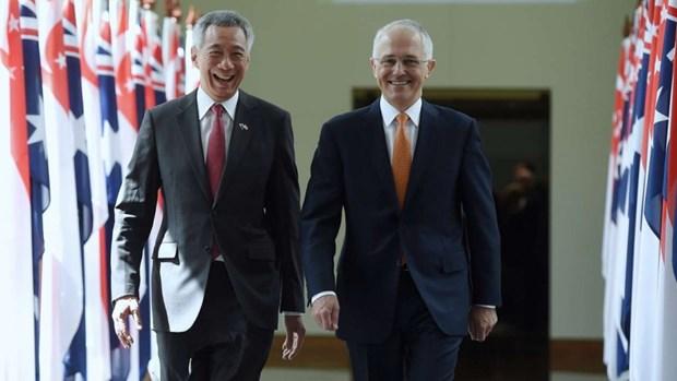 Australia-Singapore thuc day quan he doi tac chien luoc toan dien hinh anh 1