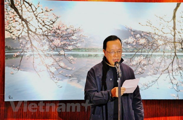 Trien lam tranh phong canh Nhat Ban cua hoa sy Pham Luan tai Tokyo hinh anh 2