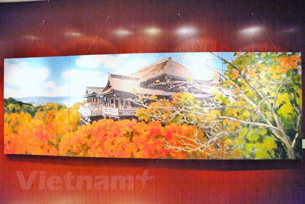 Trien lam tranh phong canh Nhat Ban cua hoa sy Pham Luan tai Tokyo hinh anh 3