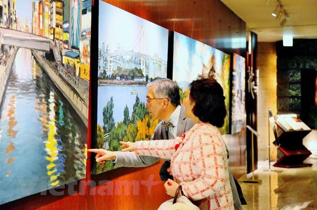 Trien lam tranh phong canh Nhat Ban cua hoa sy Pham Luan tai Tokyo hinh anh 1