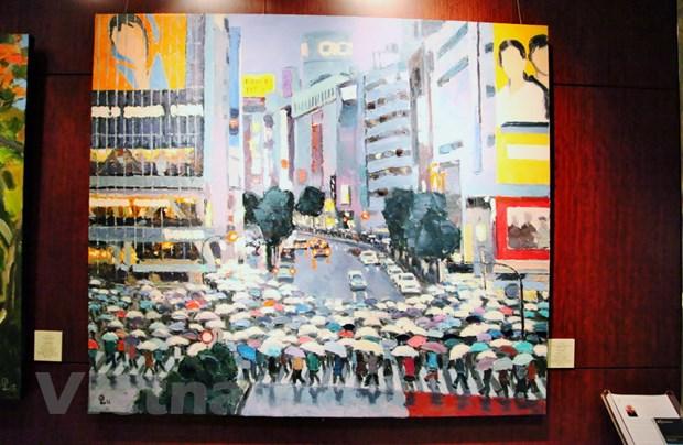 Trien lam tranh phong canh Nhat Ban cua hoa sy Pham Luan tai Tokyo hinh anh 4