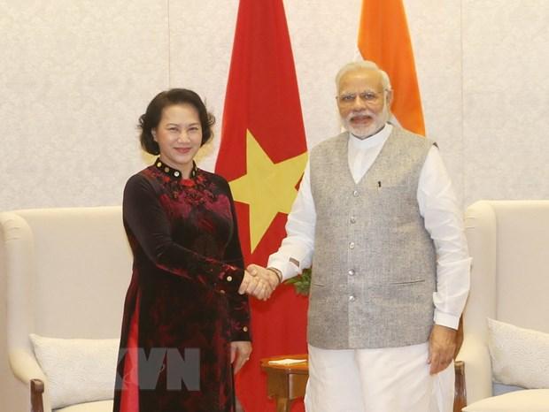 Chu tich Quoc hoi Viet Nam hoi kien Thu tuong An Do Narendra Modi hinh anh 1