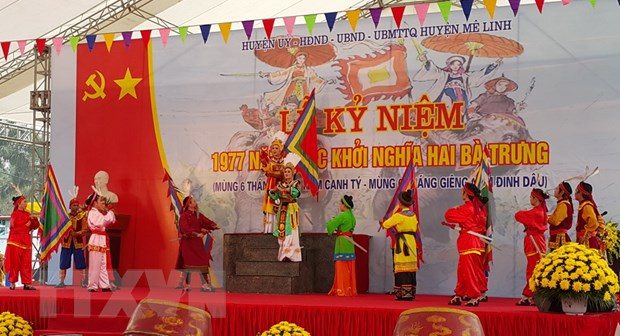 Pho Chu tich nuoc du le ky niem 1977 nam khoi nghia Hai Ba Trung hinh anh 1