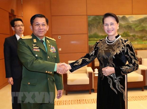 Trien khai hieu qua cac noi dung hop tac quoc phong Viet Nam-Myanmar hinh anh 1