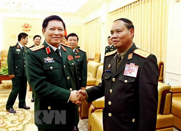 Chu nhiem Tong cuc Chinh tri Quan doi nhan dan Lao tham Viet Nam hinh anh 2