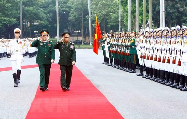 Chu nhiem Tong cuc Chinh tri Quan doi nhan dan Lao tham Viet Nam hinh anh 1