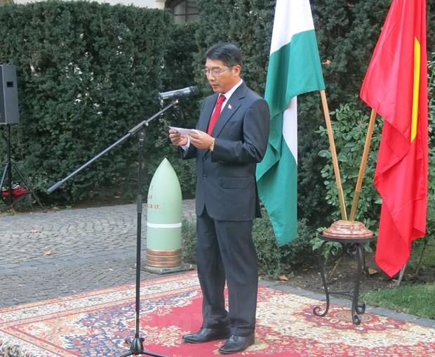 Chieu dai trong the nhan ky niem Quoc khanh Viet Nam tai Hungary hinh anh 1